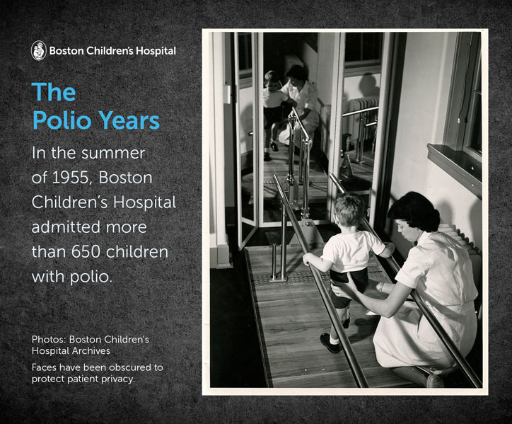 In the summer of 1955, Boston Children's Hospital admitted more than 650 children with polio.