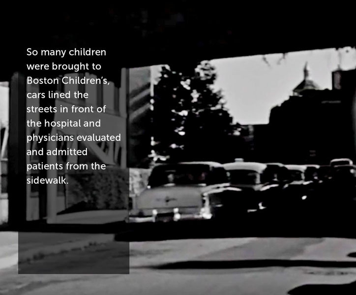So many children were brought to Boston Children's, cars lined the streets in front of the hospital and physicians evaluated and admitted patients from the sidewalk.