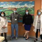 Members of the cardiac MIS-C team pose in the Heart Center