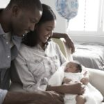 A couple with newborn baby