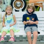 Sister and Brother on a bench
